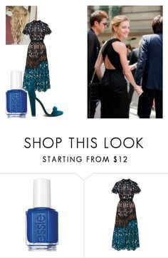"""""""Natalia Vodianova"""" by de-garbelini ❤ liked on Polyvore featuring Essie and self-portrait"""