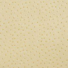 Ecru Beige Ostrich Skin Animal Hide Look Vinyl Upholstery Fabric