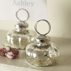 Antique Glass Name Place Holder