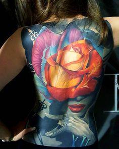 Back tattoo by Vasilii Suvorov