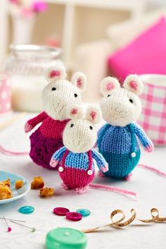 """Twas the night before Christmas, when all through the house, not a creature was stirring, not even a mouse"" Get your hands on our adorable mouse pattern and yarn kit with issue 67, on sale 19th December!"