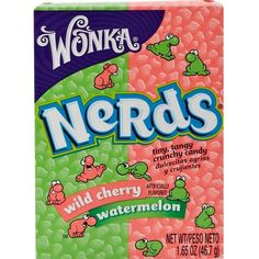 River Island Wild Cherry and Watermelon Nerds sweets (11 QAR) ❤ liked on Polyvore featuring food, food and drink, fillers, food & drink, candy and novelty