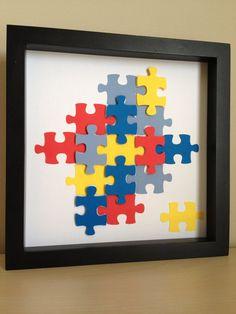 Autism Awareness Puzzle Piece paper art that can by PaperLine Autism Awareness Crafts, Autism Crafts, Autism Awareness Month, Autism Activities, Puzzle Piece Crafts, Puzzle Pieces, Puzzle Quilt, Puzzle Art, Infancy