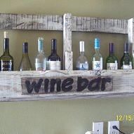 Creative and functional pallet wine bar
