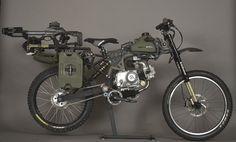Motobike Loaded Survival Bike
