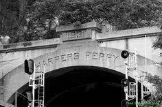 Harper's Ferry tunnel  ~  Railroad tunnel at Harper's Ferry, West Virginia