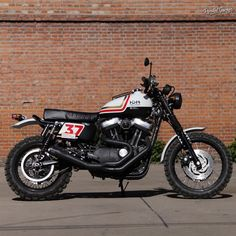 Sportster Scrambler from a Harley-Davidson XL1200N by Mandrill Garage