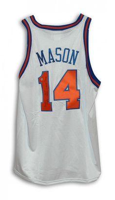 3e3336c6f019 AAA Sports Memorabilia LLC - Anthony Mason New York Knicks Autographed  White Throwback Jersey Inscribed