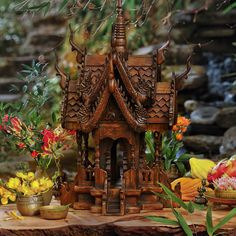 Bring good mojo to your home or garden with an authentic, hand-carved Thai Spirit House from #CRAFTbyWorldMarket.