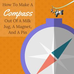 Here's how  to make a compass in the kitchen using milk jug, a magnet, and a pin. Homeschool Science Curriculum, Preschool Science, Science Resources, Teaching Science, Science Activities, Science Experiments, Earth Science Projects, Diary Template, Milk Jug