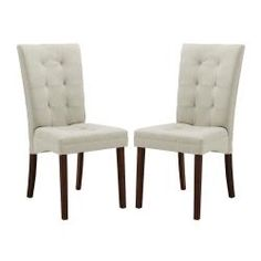 Anne Beige Fabric Modern Dining Chair (Set of 2)