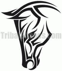 Celtic Horse Circle | Horse Head Tattoo Design