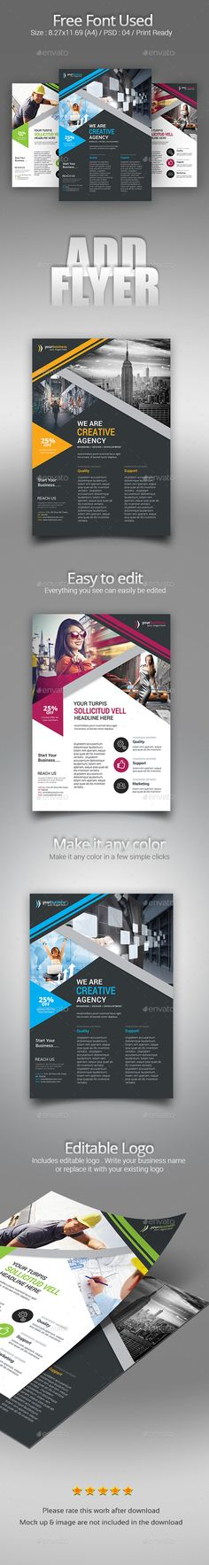 Flyer Template PSD Bundle
