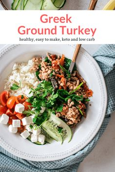 Healthy Food Options, Good Healthy Recipes, Clean Recipes, Ww Recipes, Weeknight Meals, Quick Meals, Ground Turkey Spaghetti, Main Dish Salads, Main Dishes