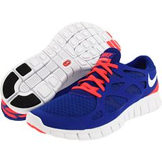 467a6f93db04 Nike free run 2 drenched blue solar red white