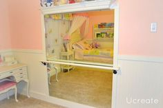DIY Ballet Bar.  Wish I had one of these when I was a little girl!