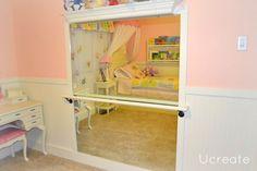 how adorable for a girl's room...DIY ballet bar!