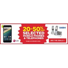 20-50% OFF Sale on Selected Mobile Phones & Telephones @ Warehouse Stationery - Bargain Bro