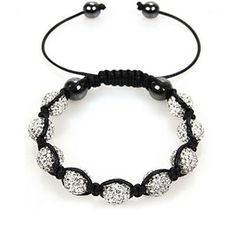 Shamballa Bracelet Swarovski Crystal Balls Shamballa Swarovski Disco Balls - Choose Your Color ♥
