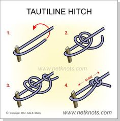 Tautline Hitch - How to tie a Tautline Hitch