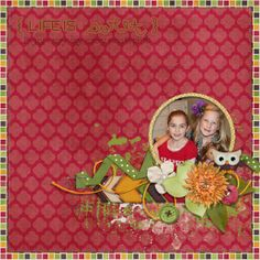 Credits: This is Life by Triple J Designs, scraplift of Fall-Flowers by Murmer for December Scraplift challenge at Scrap Takeout, Phank font