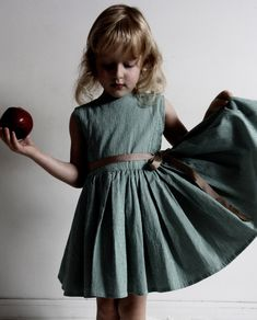 cute seemingly simple pattern for a dress. (either for a little girl or a big girl! such a classic cut)