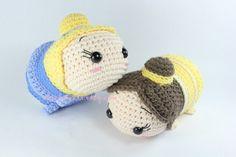 PATRÓN 2-PACK: Cenicienta y Belle Tsum Tsum muñecas por epickawaii
