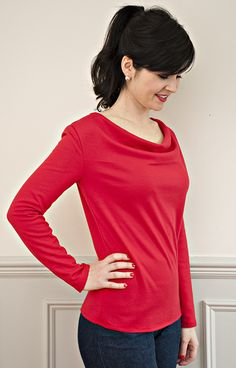 If you want to learn to sew with jersey, this pattern is the perfect introduction. A stylish jersey dresswith an interestingcowl neckline, it ticks a lot of our boxes: simple to sew and easy to wear!  The constructionis as straightforwardas you can get: a front piece, back piece and a sleeve piece. That's all you need! There are no darts, facings or tricky closures to contend with. You can whip up one of these babies in less than an hour.  Versatility is at the core of this pattern, a...