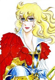Oscar François de Jarjayes from The Rose of Versailles manga by Riyoko Ikeda Real Anime, Old Anime, Manga Anime, Manga Illustration, Illustrations, Lady Oscar, Royal Art, Manga Artist, Manga Characters