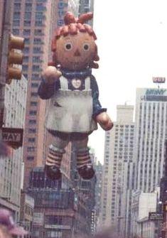 1984 Macy's Thanksgiving Day Parade ~ Raggedy Ann Balloon