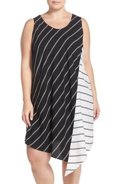 Halogen® Asymmetrical Shift Dress (Plus Size)