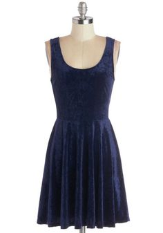 Velvet, If You Please Dress in Deep Sapphire, #ModCloth