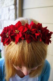 The Pink Samurai: DIY Poinsettia Flower Headband