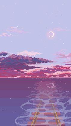 Studio Ghibli in pixel art Aesthetic Backgrounds, Aesthetic Iphone Wallpaper, Aesthetic Wallpapers, Scenery Wallpaper, Iphone Background Wallpaper, Sky Aesthetic, Aesthetic Anime, Animes Wallpapers, Cute Wallpapers