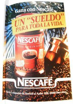 Anuncio de Nescafé, años 80.