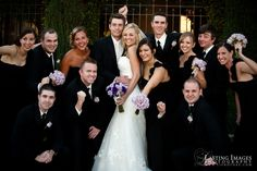 Black and purple roses for the bridal party | Lasting Images Photography | villasiena.cc