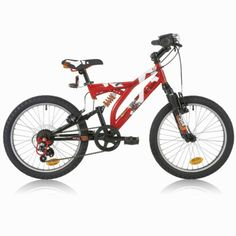 "B'TWIN - 20"" Çift Süspansiyonlu Çocuk Bisikleti"