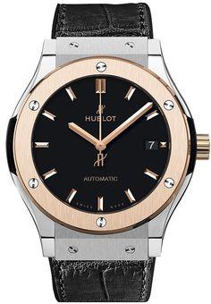#Hublot Classic Fusion Titanium King Gold #Watch