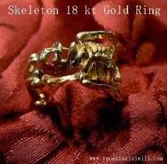 Skeleton Ring - Gold 18 kt - Dogale jewellery Venice Italia