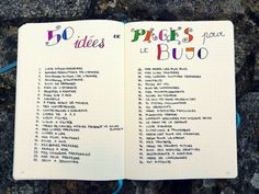 Inspiration 50 Idées de pages bullet journal bujo. (http://journalingaddict.fr/50-idees-pages-bujo)