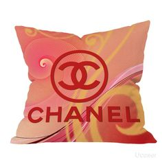Chanel Logo Red vector Pillow Cases