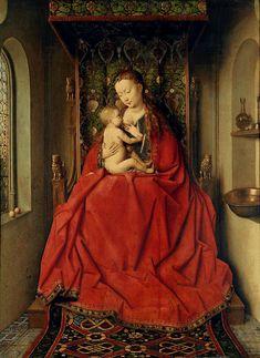 EYCK, Jan van  The Madonna of Lucca  c. 1436  Oil on wood, 65,5 x 49,5 cm  Städelsches Kunstinstitut, Frankfurt