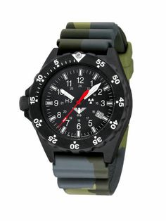 KHS.SH.DC3 SHOOTER OROLOGIO MILITARE MILITARY WATCH DIVERBAND CAMO OLIVE