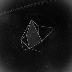 geometric design in black and white.