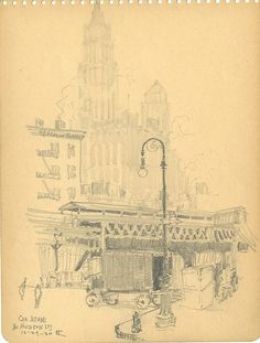 Hugh P. Chrisp (1882 - 1971)  Title: Corner Reade and Hudson Street  Media: Pencil on Paper