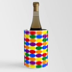 Buy Polka Dot Psychedelic Pattern Wine Chiller by youokpun. Worldwide shipping available at Society6.com. Just one of millions of high quality products available. Wine Chillers, Psychedelic Pattern, Polka Dots, Bottle, Crafts, Stuff To Buy, Products, Manualidades, Flask