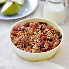 Toasted Muesli (Granola) with Goji. An idea on how you can add goji berries - a superfood ingredient to you everyday breakfast. Brunch Recipes, Breakfast Recipes, Breakfast Ideas, Muesli Recipe, A Food, Food And Drink, Food Categories, Healthy Eating Recipes, Breakfast Time