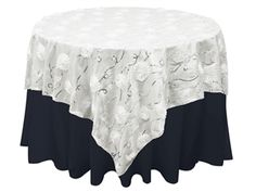 White Floral and Silver Sequin-Swirl Taffeta Overlay.  By Zemboor