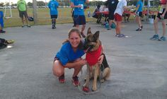 Coco at the Central Broward Regional Park, offering her Therapy Dog services to the finishers of the 5K 2015 Big Cardio event to raise money for 4Kids of South FL.