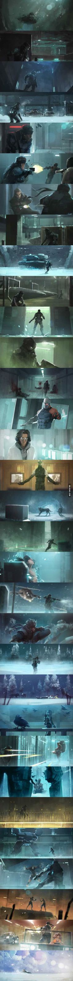 Metal Gear Solid. An Amazing Story Told With Amazing Art-** very awesome for an aw e some game